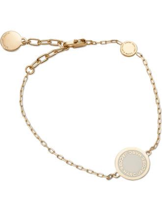 Enamel Logo Disc Bracelet