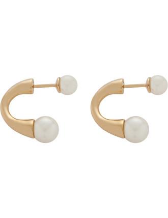 Darcey Round Pierced Earrings