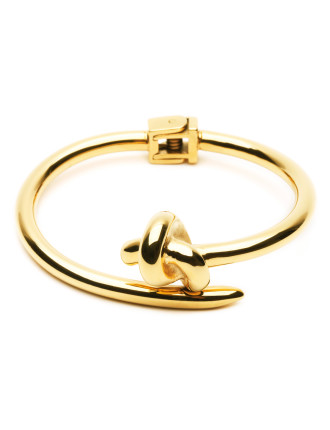 Knot Gold Plated S/Steel Bracelet