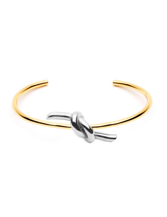 Tie Me Two Tone S/Steel Bangle
