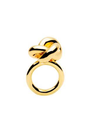 Big Knot Gold Plated Ring