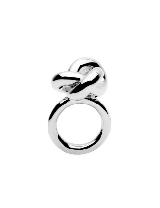 Big Knot Silver Ring