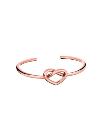 Charming Polished Rose Gold Pvd Open Bangle