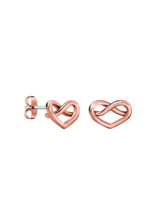 Charming Polished Rose Gold Pvd Earrings