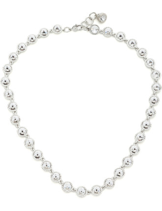 Rosele: Rivoli Crystal Single Row Necklace
