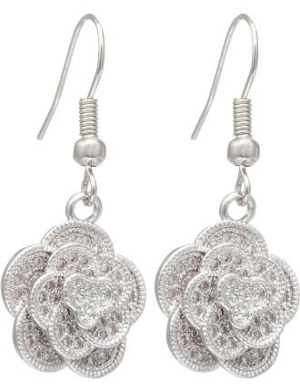 Drop Flower Earrings