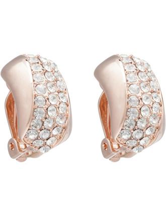 Sparkle Scoop Clip Earrings