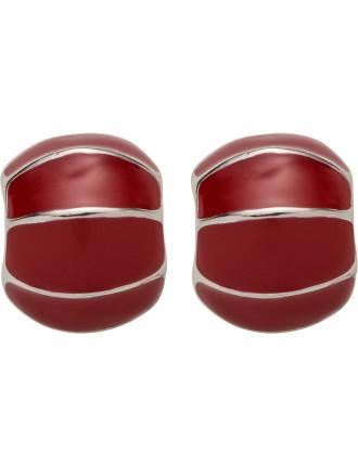 Shell Enamel Post Earring