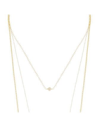 Sunset View Pearl Multi Chain Necklace