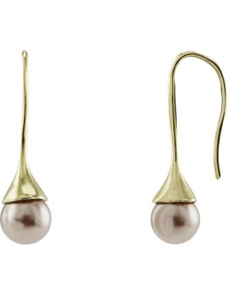 8mm Pearl Drop Earring