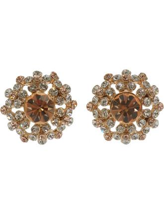 Cluster Cz Earring