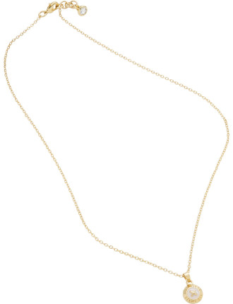 Elvina: Enamel Mini Button Pendant Necklace