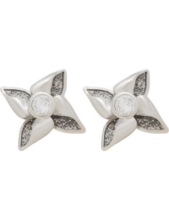 Kenna: Enamel Breeze Stud Earring