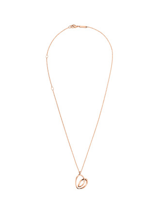 Warm Polished Rose Gold Pvd Necklace 500mm