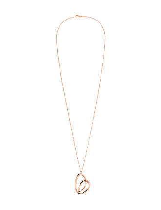 Warm Polished Rose Gold Pvd Necklace 850mm