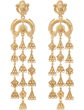 Ornate Charm Chandelier C Earring