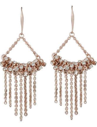 Cz/Multi Tassle Drop Earring