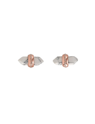Midnight Prism Stud Earrings