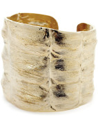 Gold Cast Croc Series Cuff $400.00