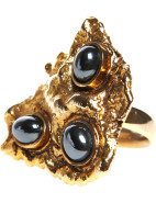 Melt Ring in Gold with Iron Ore Stone $64.50