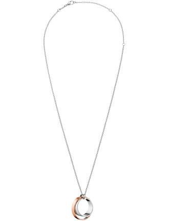 Calvin Klein Unite Adjustable Necklace In Rose Gold
