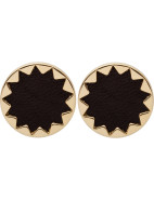 EARTH METAL SUNBURST BUTTON EARRINGS $49.00