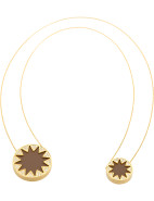 DOUBLE SUNBURST NECKLACE $83.30
