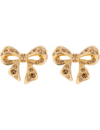 Pave Crystal Small Bow Earring $55.30