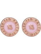 Enamel Logo Button Stud Earring $41.30