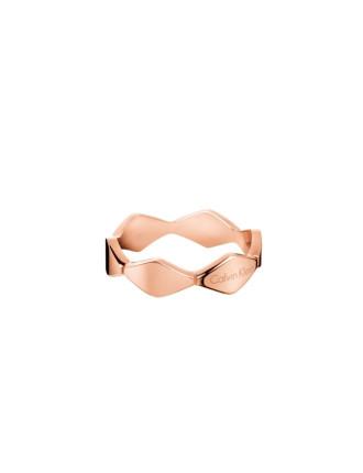 Snake Polished Rose Gold Pvd Ring
