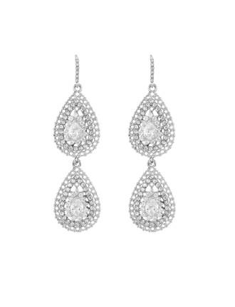 Velvet Ocean Grand Crystal Earrings