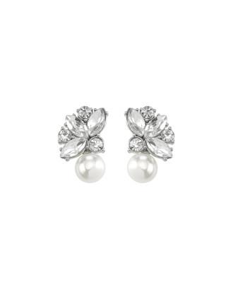 Velvet Ocean Cluster Stud Earrings