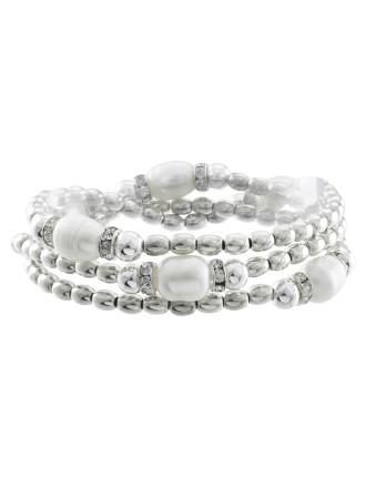 Freshwater Pearl Multi Stretch Bracelet