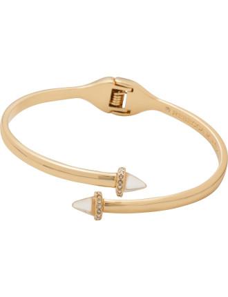 Acorn Crystal Hinge Bracelet