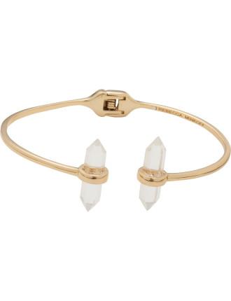 Raw Crystal Hinge Bracelet