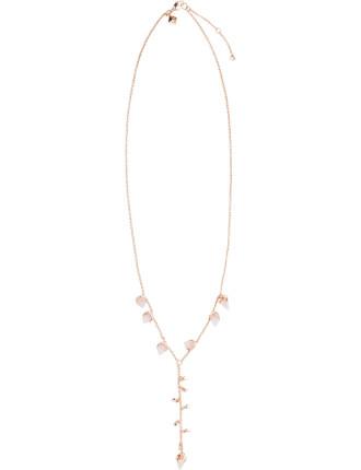 Acorn Crystal Dainty Y Necklace