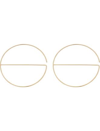 Circle/Bar Hoop (Lg Size) Earrings