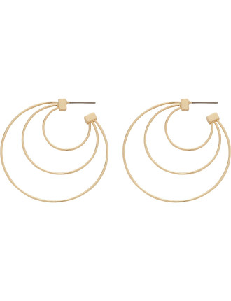 Statement Triple Hoop (Sm Size) Earrings