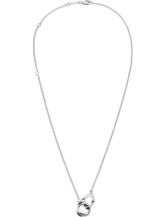 Beauty Polished Stainless Steel Necklace, 500mm Length