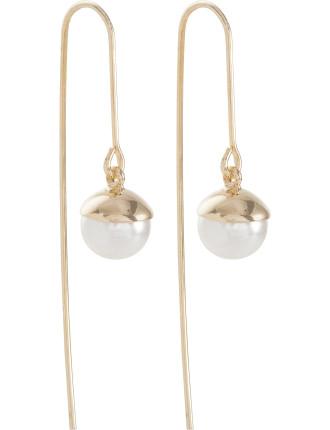 Pearl Hook Earring