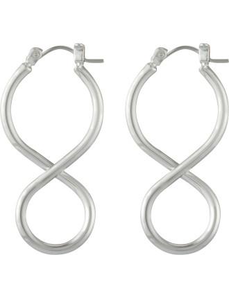 Infinity Twist Hoop Earring