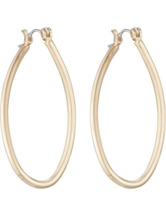 Long Twist Hoop Earring