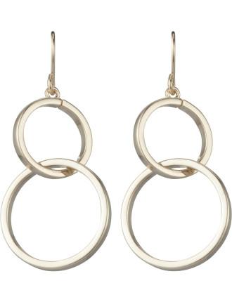 2 Circle Drop Earring