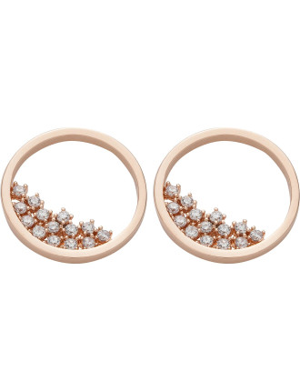 Hoop With Cz Centre Earring