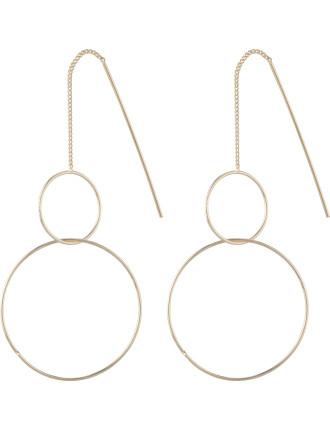 2 Hoop Drop Earring