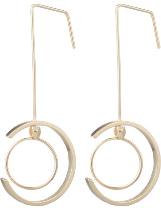 Drop Earring With Metal Hoops
