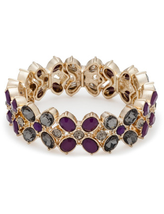 Flower Jewel Stretch Bracelet