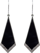 Large kite shaped deco stoneset earrings $27.96