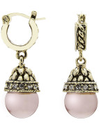Ornate Drop Pearl Earring $39.95