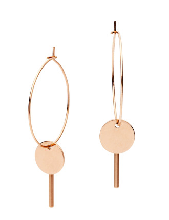 Desert Moon Earrings In Rose Gold Stainless Steel